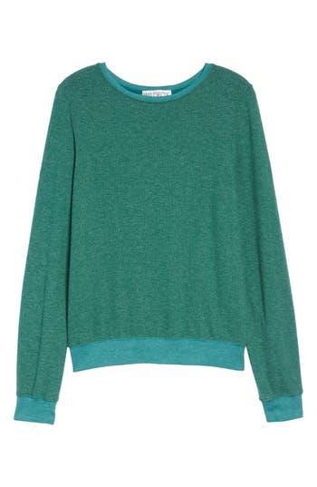 Women's Wildfox 'Baggy Beach Jumper' Pullover, Size XX-Small - Green