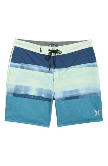 Hurley Phantom Roll Out Board Shorts, Blue