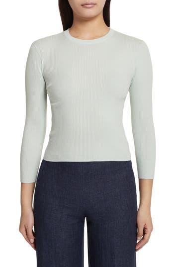 Theory Merino Wool Blend Sweater, Green