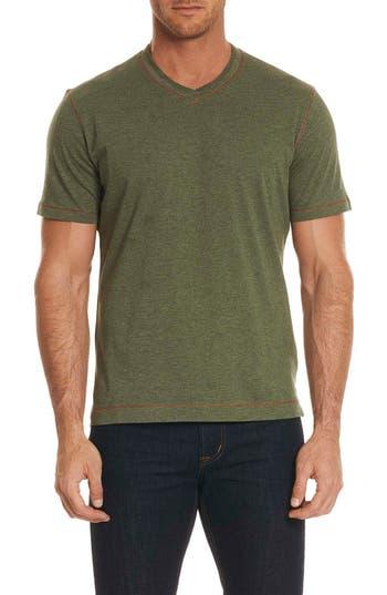 Robert Graham Traveler V-Neck T-Shirt, Green