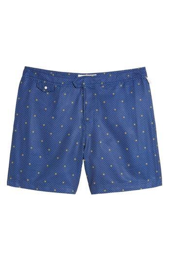 Original Penguin Polka Dot Lemon Volley Board Shorts, Blue
