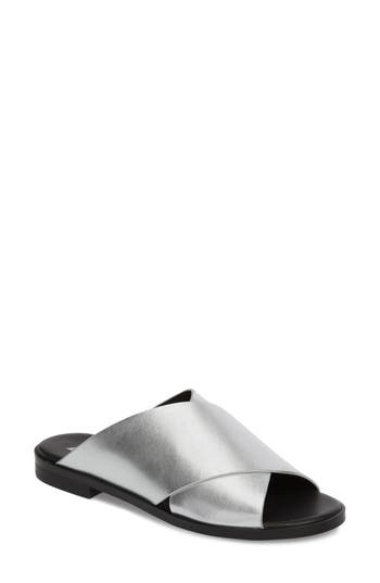 Marc Fisher Ltd Idinia Crisscross Slide Sandal, Metallic