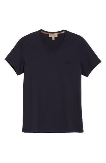 Men's Burberry Jadforth V-Neck T-Shirt, Size Small - Blue