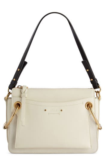 Chloe Small Roy Leather Shoulder Bag - White