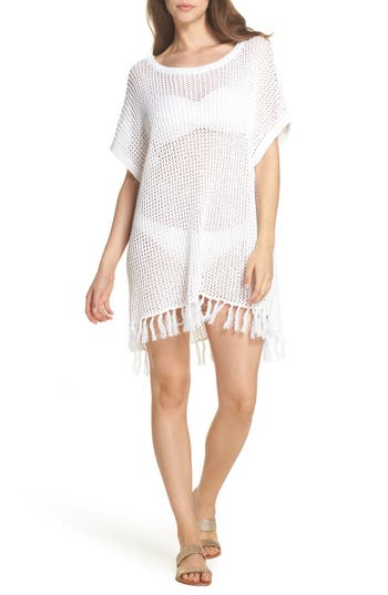 Tommy Bahama Slouchy Beach Sweater Cover-Up, White
