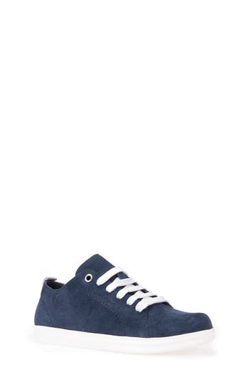 Boys Geox Anthor Low Top Sneaker Size 4US  36EU  Blue