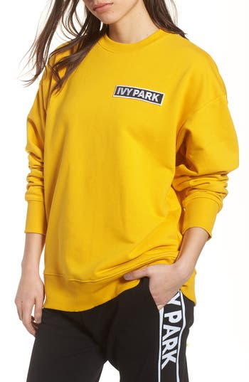 Ivy Park Flag Badge Sweatshirt, Metallic