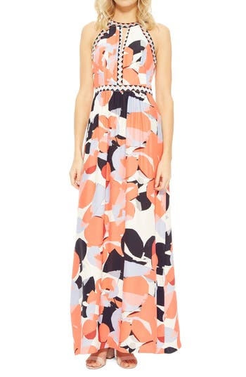 Women's Parker Luella Silk Maxi Dress, Size 0 - Coral