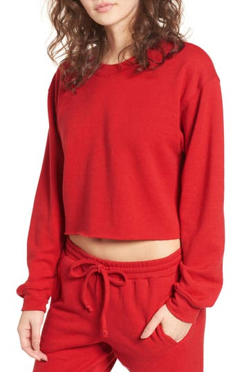 Women's Sub Urban Riot Gigi Crop Sweatshirt, Size X-Small - Red