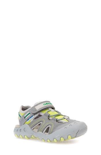 Boys Geox Kyle Sandal Size 6.5US  40EU  Grey