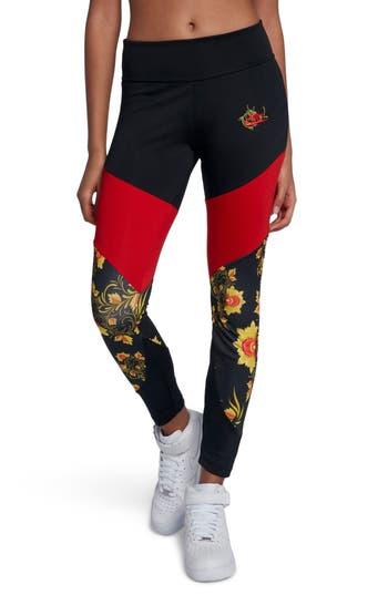 Nike Sportswear Essential Floral Leggings, Black