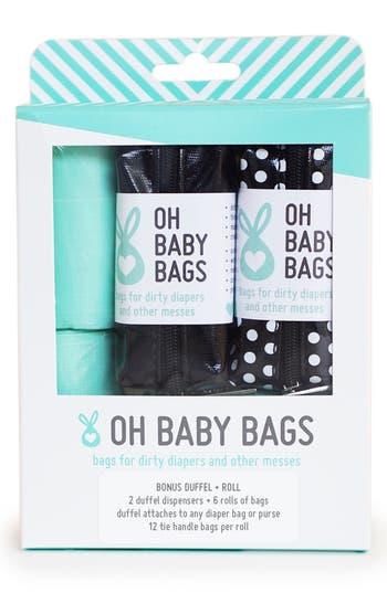 Infant Oh Baby Bags Portable ClipOn Dispenser  Bag Set Size One Size  Black