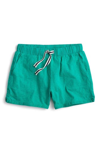 Girl's Crewcuts By J.crew Ester Cotton Shorts, Size 4 - Green