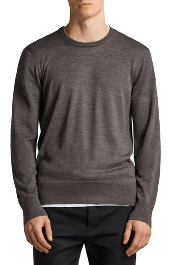 Allsaints Lang Crewneck Wool Sweater, Grey