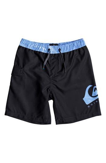 Boys Quiksilver Lava Logo Volley Shorts Size 4  Blue
