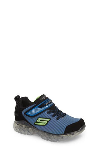 Boys Skechers Chargeables Reflective LightUp Sneaker Size 4 M  Blue