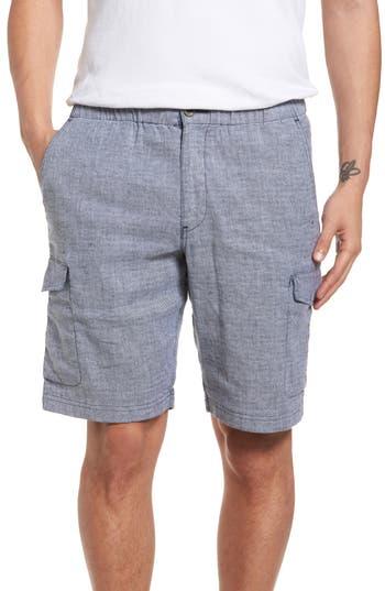Mens Big  Tall Tommy Bahama Beach Linen Blend Cargo Shorts Size 3XB  Blue