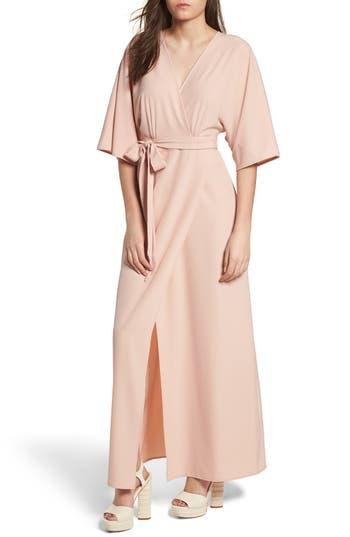 Leith Kimono Maxi Dress, Pink