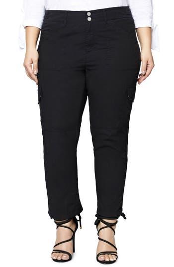 Plus Size Sanctuary Terrain Crop Cargo Pants, Black