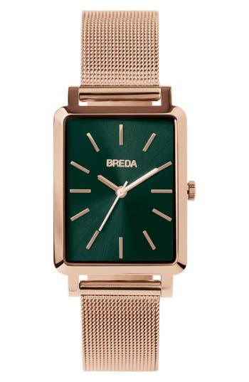 Breda Baer Mesh Strap Watch, 2m