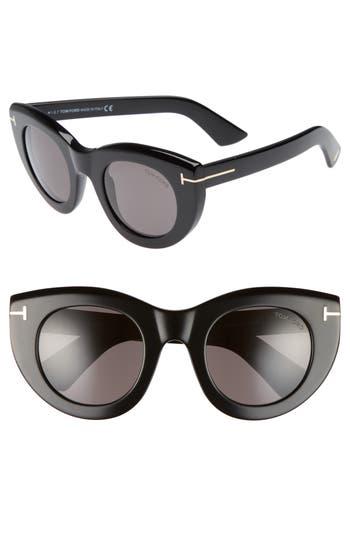 Tom Ford Marcella 4m Cat Eye Sunglasses - Black/ Smoke