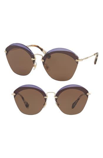 Miu Miu 62Mm Sunglasses - Violet