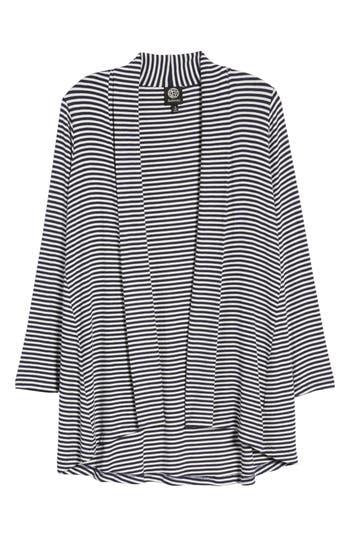 Women's Bobeau High/low Jersey Cardigan, Size XX-Small - Blue
