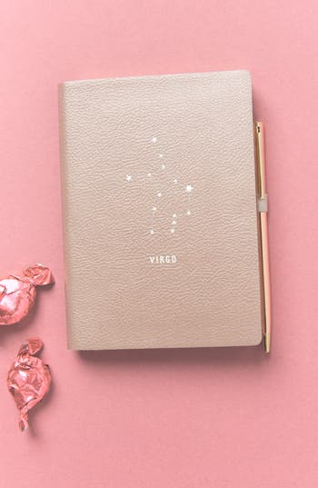 anthropologie zodiac journal - pink