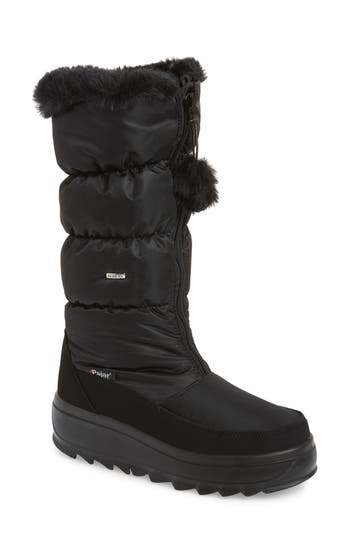 Pajar Toboggan 2 Faux Fur Trim Insulated Waterproof Boot, Black