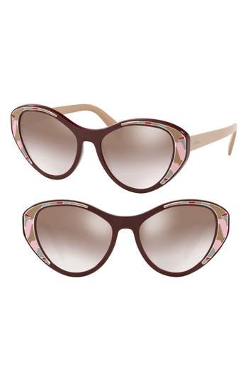 Prada Tapestry Evolution 55mm Cat Eye Sunglasses