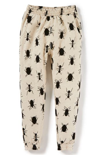 Boys Peek Bug Print Jogger Pants