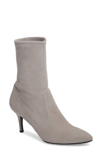 Stuart Weitzman Cling Stretch Bootie, Grey