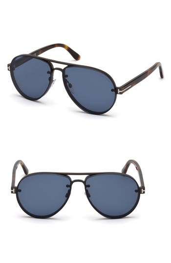Tom Ford Alexei 62mm Oversize Aviator Sunglasses