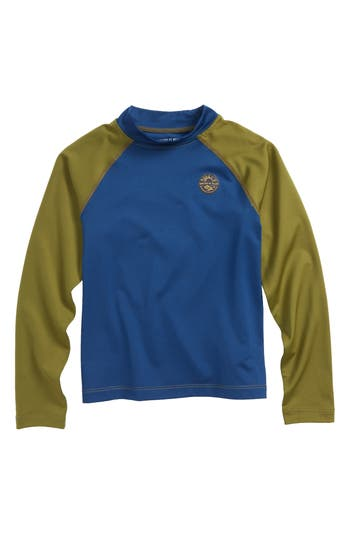Boys United By Blue Long Sleeve Rashguard Size S  8  Blue