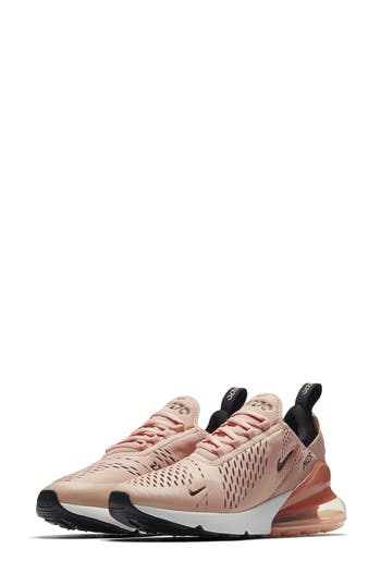 NIKE WOMEN'S AIR MAX 270 CASUAL SHOES, PINK, CORAL STARDUST/ BLACK