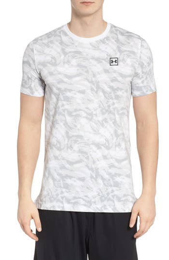 Under Armour Sportstyle Print Charged Cotton Fitted T-Shirt, White