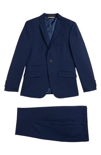 Boys Andrew Marc Check Suit