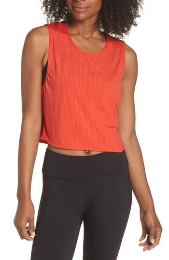 Splits59 Leona Crop Tank, Orange