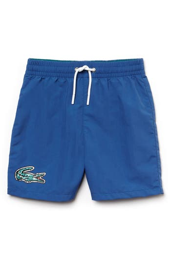 Boys Lacoste Classic Solid Swim Trunks
