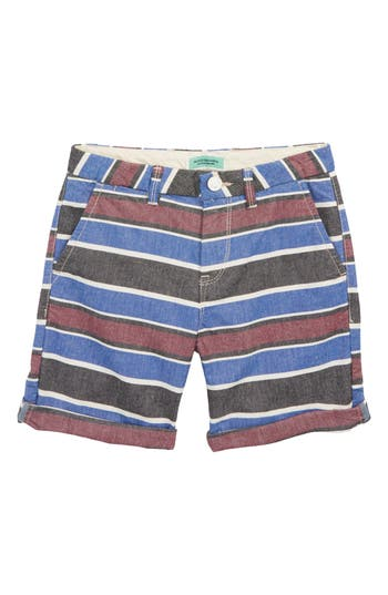 Boys Scotch Shrunk Stripe Chino Shorts