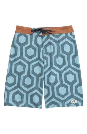 Boys ONeill Hyperfreak Wrenched Board Shorts