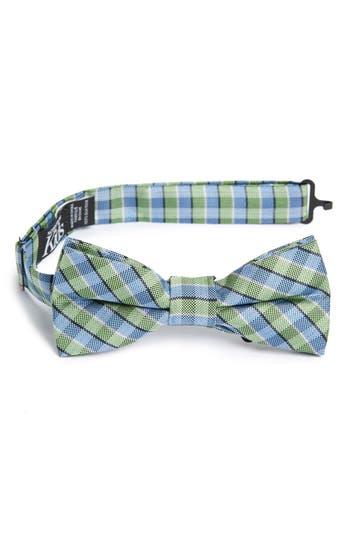 Boys Nordstrom Circus Check Silk Bow Tie Size Big Boy  Green