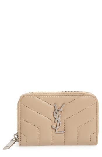 Saint Laurent Loulou Matelassé Leather Card Wallet