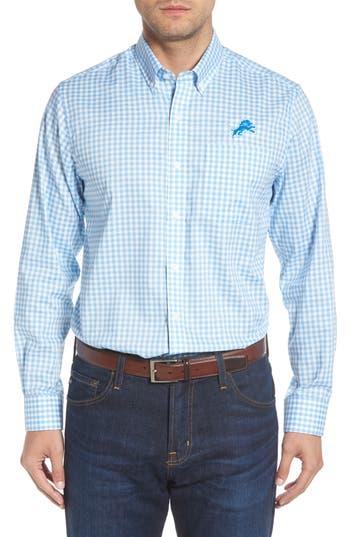 Men's Cutter & Buck League Detroit Lions Regular Fit Shirt