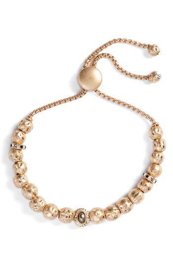 Treasure & Bond Hammered Sphere Charm Adjustable Bracelet