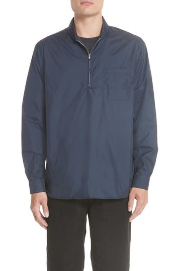 Men's Our Legacy Shawl Collar Pullover Shirt Jacket