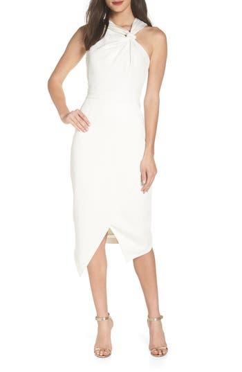 Harlyn Twist Front Asymmetrical Cocktail Dress