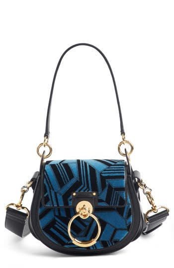 Chloé Small Tess Geo Calfskin Leather Shoulder Bag
