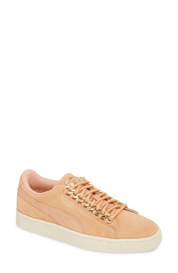 Puma CLASSIC CHAIN - Trainers - dusty coral/team gold TvW6XP