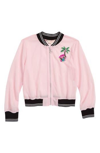 Girls Truly Me Mesh Bomber Jacket
